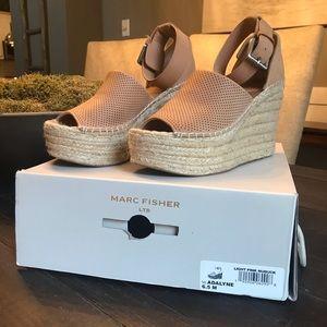 Marc Fisher Adalyn wedge sandal, blush light pink